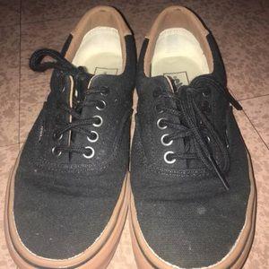 Black/ brown vans